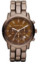 Michael Kors Womens Chronograph Espresso Tone Stainless Steel Bracelet 43mm - Lyst