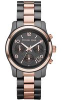 Michael Kors Chronograph Two Tone Stainless Steel Bracelet  - Lyst