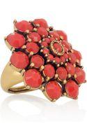 Oscar de la Renta 24karat Goldplated Cabochon Ring - Lyst