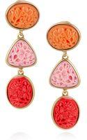 Oscar de la Renta 24karat Goldplated Seaglass Clip Earrings - Lyst