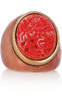 Oscar de la Renta 24karat Goldplated Seagrass Ring - Lyst