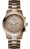 Hue Womens Chronograph Bronze Tone Stainless Steel Bracelet 39mm - Lyst