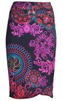 Versace Print Skirt - Lyst