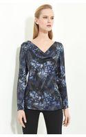 Armani Abstract Print Silk Blouse - Lyst