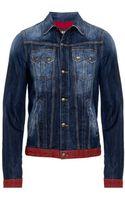 Just Cavalli Denim Jacket - Lyst