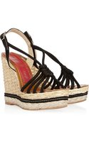 Paloma Barceló Canarias Knotted Suede Wedge Sandals - Lyst