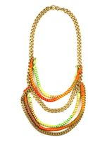 Rachel Roy Multicolor Thread and Chain Frontal Necklace - Lyst