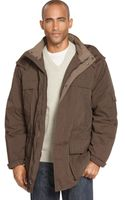 Weatherproof Microfiber Anorak with Removable Hood - Lyst