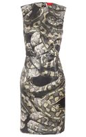Lanvin Serpent Printed Silkblend Dress - Lyst