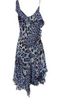 Roberto Cavalli Leopard Print Silk Georgette Dress - Lyst