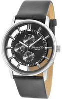 Kenneth Cole Mens Black Leather Strap Watch  - Lyst