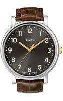 Timex® Originals Brown Leather Strap 42mm  - Lyst