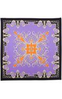 Versace Foulard Square Scarf Purple - Lyst