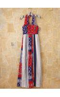 Free People Vintage Bandana Printed Maxi Halter Dress - Lyst