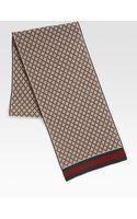 Gucci Diamante Pattern Knit Scarf - Lyst