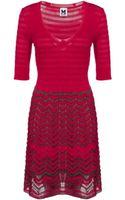 M Missoni Knitted Dress - Lyst