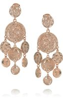 Oscar de la Renta 24karat Rose Goldplated Clip Earrings - Lyst