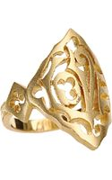 Cathy Waterman Gold Love Ring - Lyst