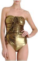 Lanvin Metallic Swimsuit - Lyst