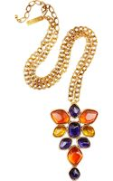 Oscar de la Renta 24karat Goldplated Resin Necklace - Lyst