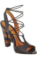 Fendi Crisscross Sandal - Lyst