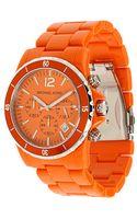 Michael Kors Orange Watch - Lyst