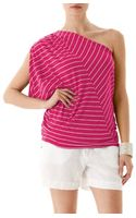 Michael Stars Highline Stripe One Shoulder Draped Top - Lyst