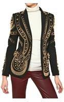 Emilio Pucci Beaded Milano Stitch Viscose Jacket - Lyst