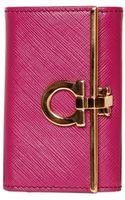 Ferragamo Saffiano Leather Key Holder - Lyst