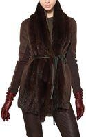 Maurizio Pecoraro Musquash Fur Double Wool Cloth Coat - Lyst