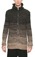 Silent - Damir Doma Cashmere Wool Mix Knit Hooded Sweater - Lyst