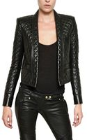 Balmain Quilted Nappa Leather Jacket - Lyst