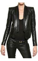 Balmain Soft Nappa Tuxedo Leather Jacket - Lyst