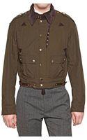 Burberry Prorsum Cotton Canvas Casual Jacket - Lyst