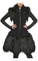Gareth Pugh Mongolian Fur and Double Wool Coat - Lyst