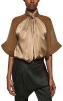 Givenchy Chiffon On Silk Satin Shirt - Lyst