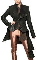 Haider Ackermann Ruffled Nappa Leather Jacket - Lyst
