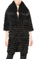 Jo No Fui Rabbit and Mink with Fox Collar Fur Coat - Lyst