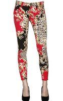 Just Cavalli Printed Drill Stretch Skinny Jeans - Lyst