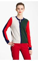 Kenzo Colorblock Cashmere Cardigan - Lyst