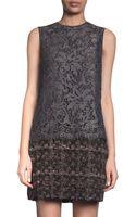 Dolce & Gabbana Lace Overlay Shift Dress - Lyst