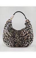 Jimmy Choo Leopardprint Calf Hair Solar Hobo - Lyst