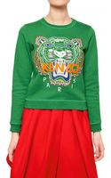 Kenzo Tiger Cotton Fleece Sweatshirt - Lyst