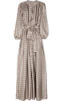 Lanvin Designerprint Silksatin Twill Gown - Lyst