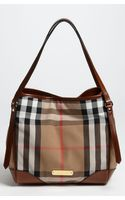 Burberry Check Print Tote - Lyst
