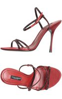 Dolce & Gabbana Highheeled Sandals - Lyst