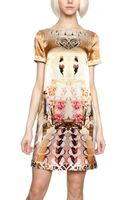 Mary Katrantzou Printed Silk Satin Dress - Lyst