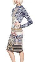 Mary Katrantzou Wool Jacquard Dress - Lyst
