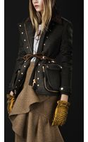 Burberry Prorsum Corduroy Collar Riding Jacket - Lyst