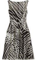 Lela Rose Patterned Organza Dress - Lyst
